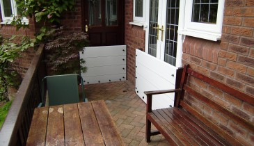 Flood Board protection to French doors and gate